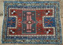 Antique Fachralo Kazak Armenian Caucasian tribal rug