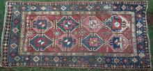 Antique Karabagh Kazak Caucasian rug