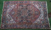 Antique Heriz Persian Carpet hand-spun wool