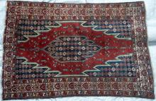 Antique Mazlaghan Persian Rug