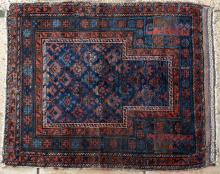 Antique Timuri Baluchi Afghan Prayer Rug