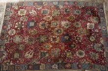Old German Tetex hook weave carpet