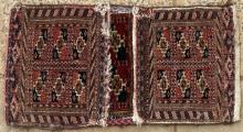 Antique Tekke Turkoman Khorjin or saddle bag.