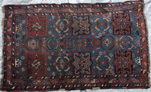 Afshar Tribal Persia Rug Handspun Wool Antique