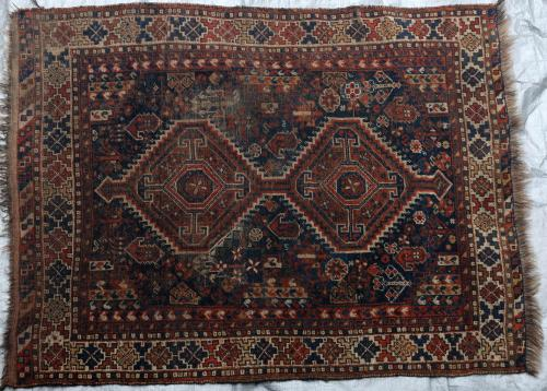 Afshar Tribal Antique Persian Handspun wool