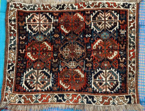 Antique Tribal Qashqa'i Persian Baface natural dyes hand-spun wool