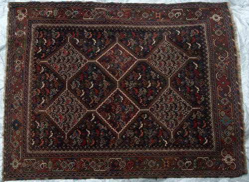 Antique Kamseh Confederacy Persian Tribal Rug
