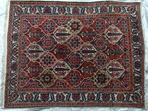 Bakhtiar Tribal Persian Rug natural dyes hand-spun wool