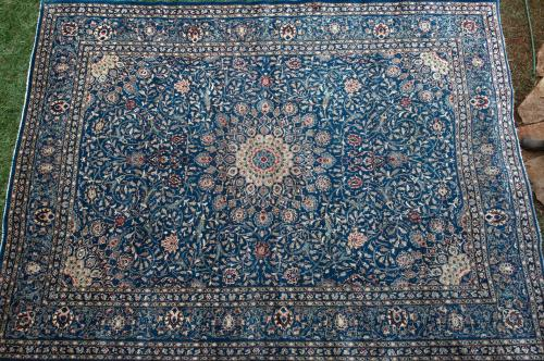 Mashad or possibly Tabriz Persian room-size Carpet Old
