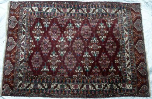 Antique Yomut Turkoman Tribal Turkmenistan hand-spun wool