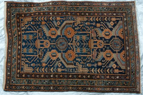 Antique Malayer or Hamadan Persian Rug