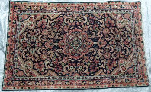 Jozan or perhaps Sarouk Persian Rug hand-spun wool