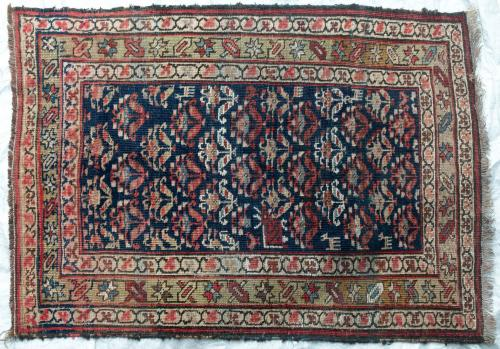 Antique Daghestan Caucasion Tribal Rug natural dyes hand-spun wool