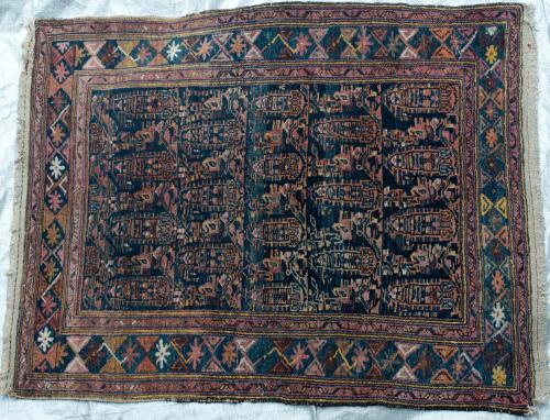 Antique Afshar Tribal Persian hand-spun wool