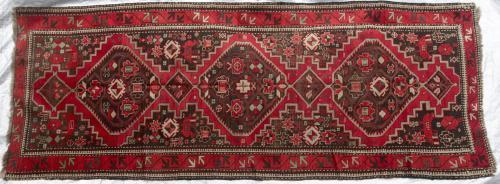 Kazak or Karabagh Caucasian Runner hand-spun wool