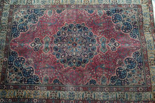 Antique Mashad Khorrosan Persian Carpet natural dyes