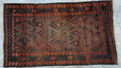 Antique Baluch Taimuri Mushwani Tribal Rug Afghaistan