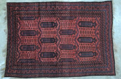 Antique Baluch Taimuri Mushwani Tribal Carpet Afghaistan