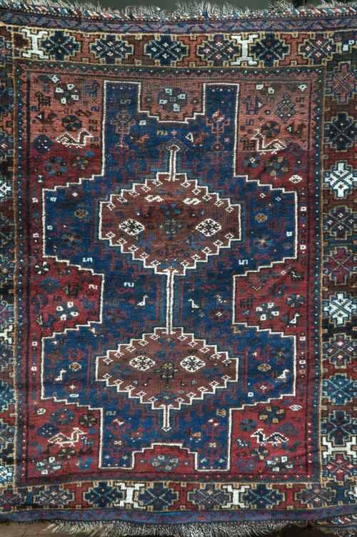 Antique Afshar or Qashqa'i Tribal Persian Rug