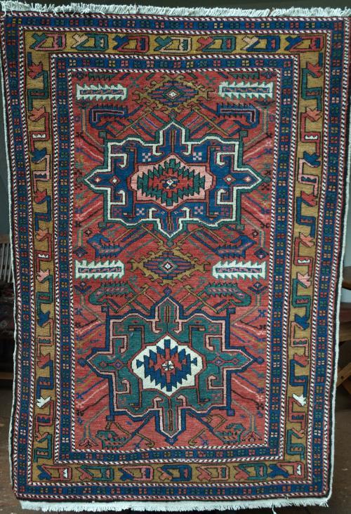 Kazak Caucasian Old Rug hand-spun wool