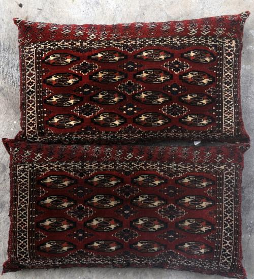 Yomut Persian Turkoman Jawals or Chuvals storage bags stuffed