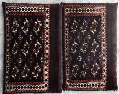 Antique Yomut Turkoman Tribal Central Asia Jawals or Chuvals