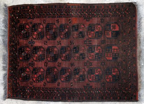 Antique Ersari Turkoman Aghan or Central Asian Rug