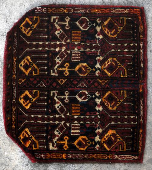 Ersari Afghan saddle cover or 'zin-i-asp' Tribal