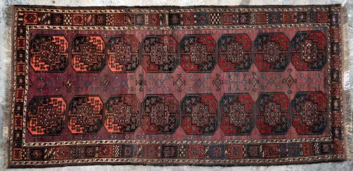 Antique Ersari Turkoman Aghan or Central Asian Runner