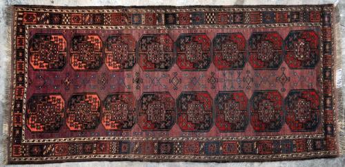 Antique Ersari Turkoman Aghan or Central Asian Runner