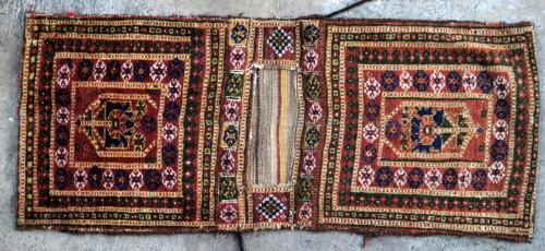 Antique Uzbek Central Asia Saddle bag