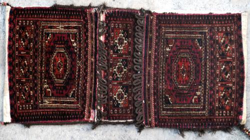Antique Tekke Khourjeen or saddle bag Central Asia