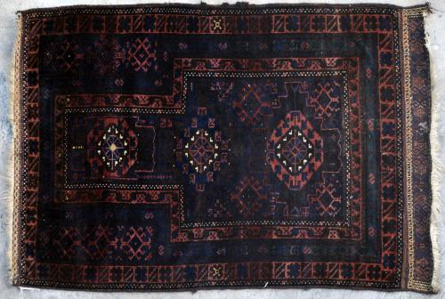 Afghan Baluch Taimuri Prayer Rug natural dyes Antique