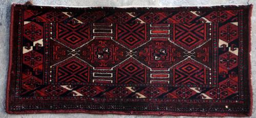 Antique Saroukh Ersari Afghan Tribal Torba Bagface