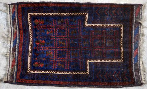 Antique Baluch Taimuri Tribal Prayer Rug Afghaistan