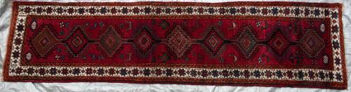 Lori or Luri Gabbeh Persian Runner Tribal hand-spun wool