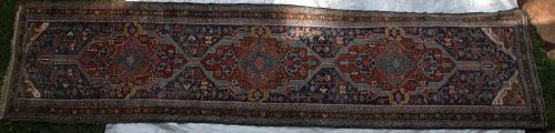 Antique Karabagh or Karadja Tribal runner Persian or Caucasian