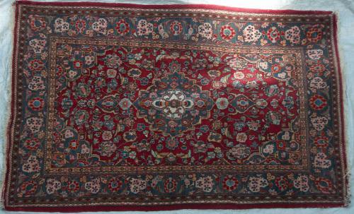 Haron Kashan Persian Rug hand-spun wool