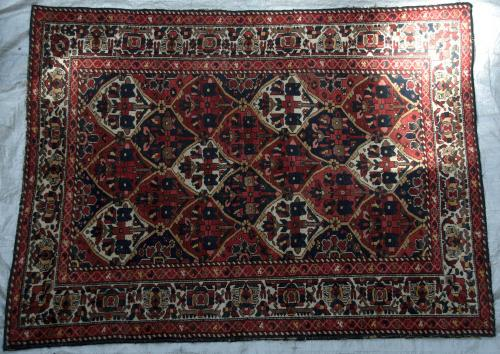 Antique Bachtiari Tribal Persian Rug with all natural colours