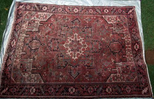 Antique Heriz NW Persia Carpet hand-spun wool