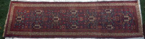 Antique Serabend Persian Runner natural dyes hand-spun wool