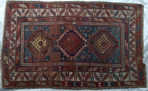 Antique Caucasian Kazak Karachov Kuba (?) Rug