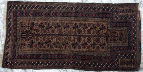 Afghan Baluch Taimuri Prayer Rug natural dyes Antique