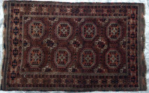 Antique Afghan Baluch Taimuri Rug Salor Turkoman guls