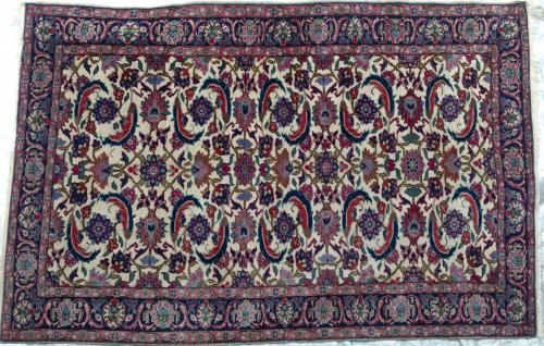 Antique Turkish Kayeri Floral Herati pattern Rug