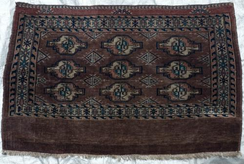 Antique Yomut Turkoman Tribal Central Asia Jawal or Bagface