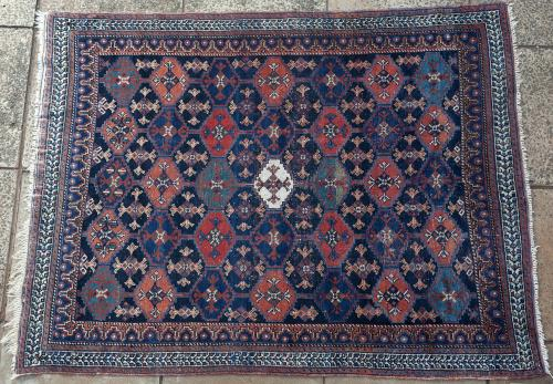 Antique Afshar Persian tribal rug