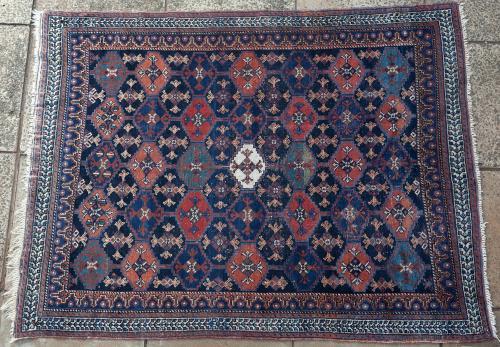 Antique Afshar Persian tribal rug