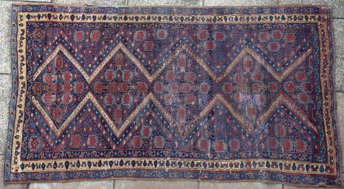 Antique Beshir Turkoman Central Asian Tribal Carpet