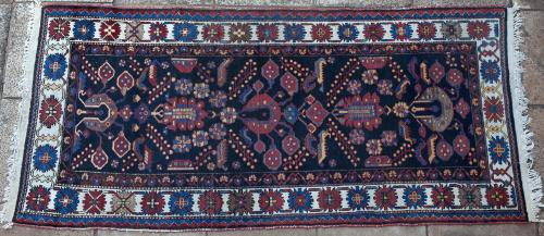 An old Bakhtiari (or Malayer) Persian rug